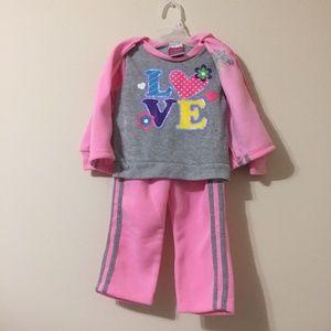 Other - Diva Toddler 3 pc Shirt Pant Love Valentine Jacket